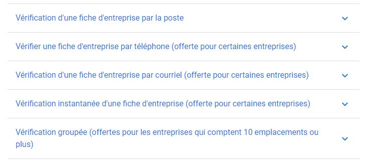 Méthodes de vérifications de la fiche Google My Business